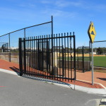 Black Tubular Swing Gate