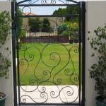 Custom swing gate by Craftsman Fencing