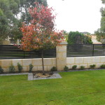 Aluminium Coloured Slat Fencing Black