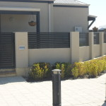 Aluminium Coloured Slat Fencing Joondalup