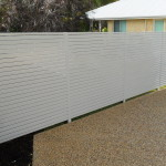 Aluminium Coloured Slat Fencing White