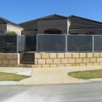 Aluminium Coloured Slat Fencing WA