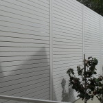 Aluminium Coloured White Slat Fencing