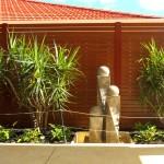 Perth Wood Grain Slat Fencing