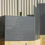 Grey Coloured Slat Fencing
