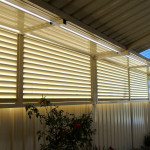 Aluminium Cream Coloured Slat Fencing