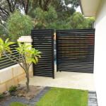 Aluminium Coloured Black Slat Fencing