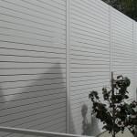Aluminium Coloured White Slat Fencing