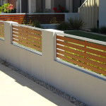 Wood Grain Slat Fencing Perth