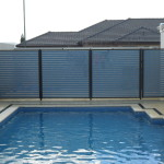 Slat Pool Fencing Navy