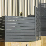 ALUMINIUM COLOURED SLAT FENCING