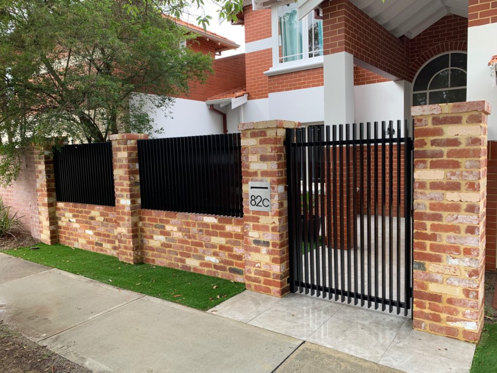 Aluminium Slat Fence Installation
