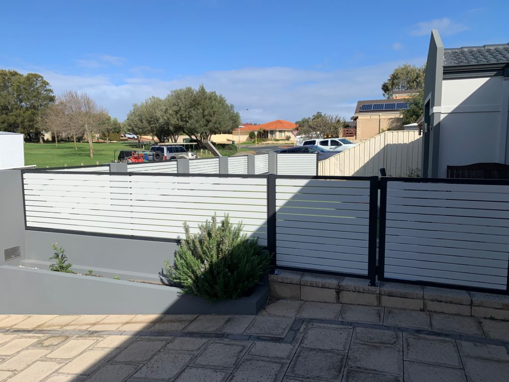 Slat Fence Install in Currambine