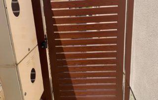 Woodgrain Slat Gate in Clarkson