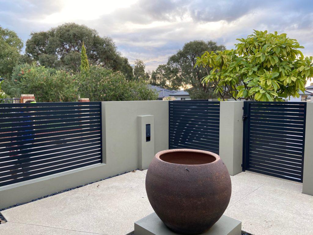 Horizontal Slat Fence in Carramar